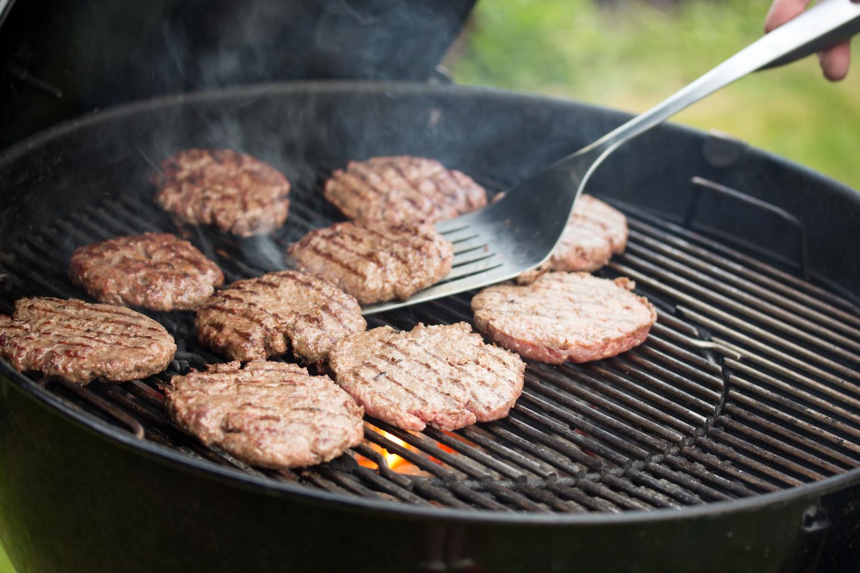 Burger grilled